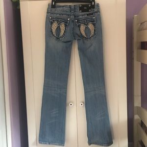 Miss Me  Boot Cur Angel Wing Jeans   28